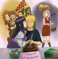 over100K:Happy Birthday Naruto by sharingandevil