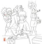Happy Birthday Naruto lineart