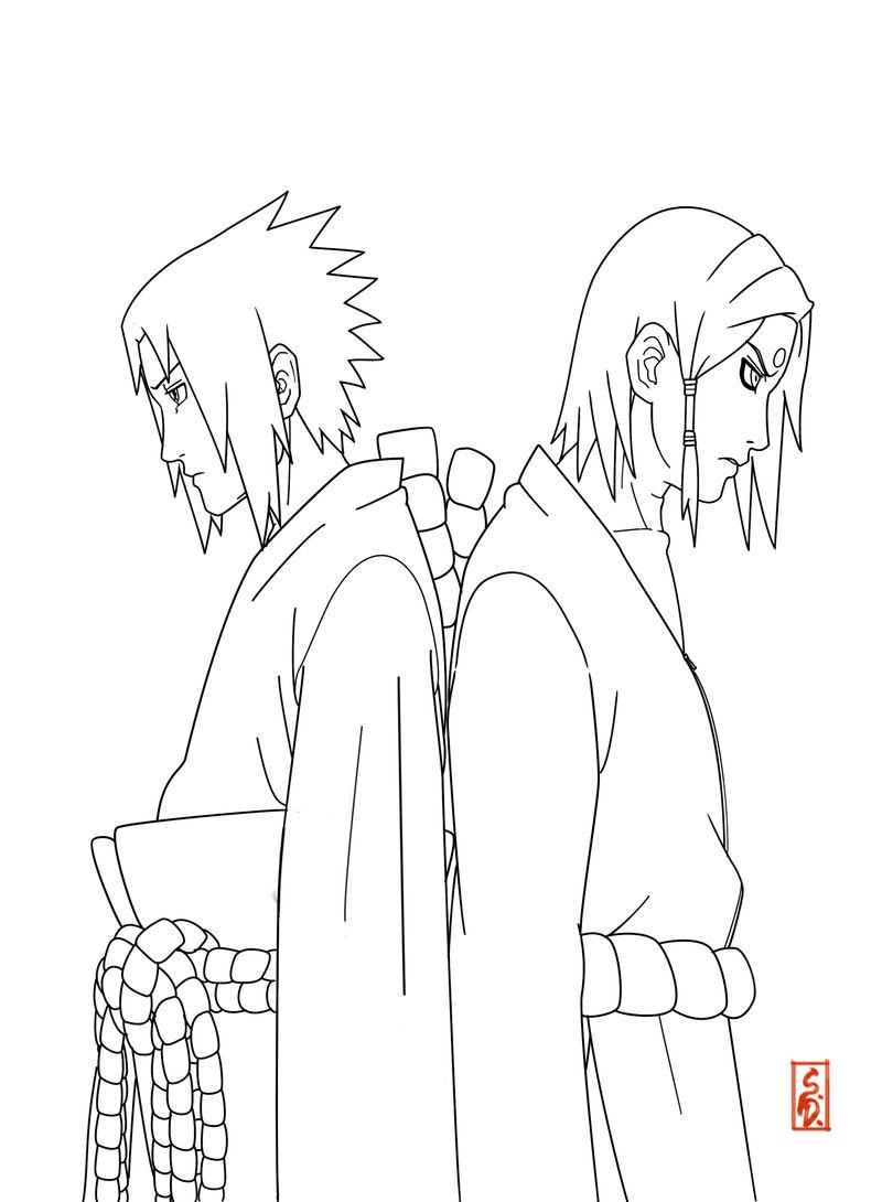 Orochimaru's Children lineart