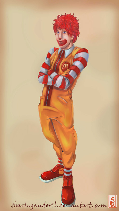 Ronald McDonald.... by sharingandevil