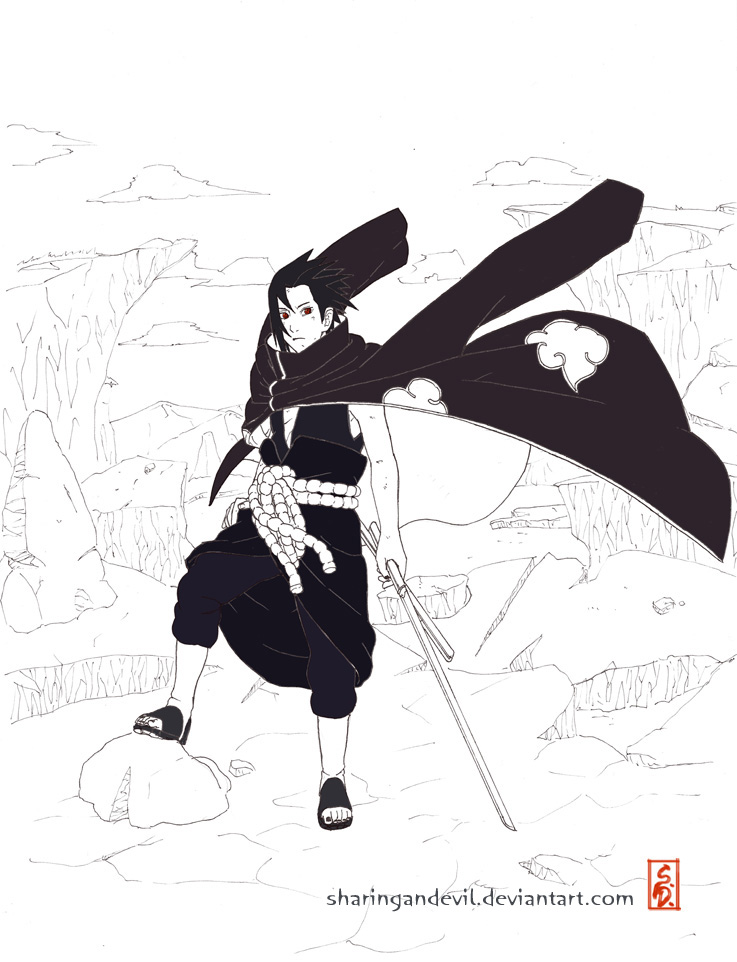 Akatsuki Sasuke by sharingandevil