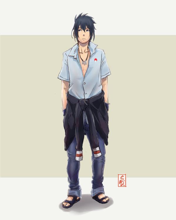 Modern Modern Clothes Sasuke Uchiha Fanart