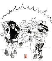 CATFIGHT Naruto vs Sasuke by sharingandevil