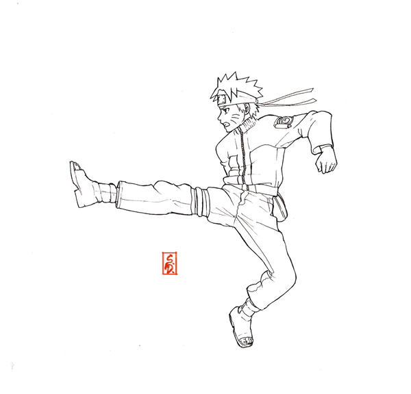 naruto shippuden lineart by sharingandevil