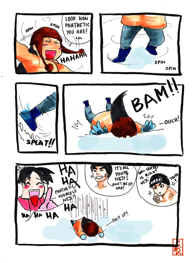Team Gai's Winter Holiday p.3 by sharingandevil