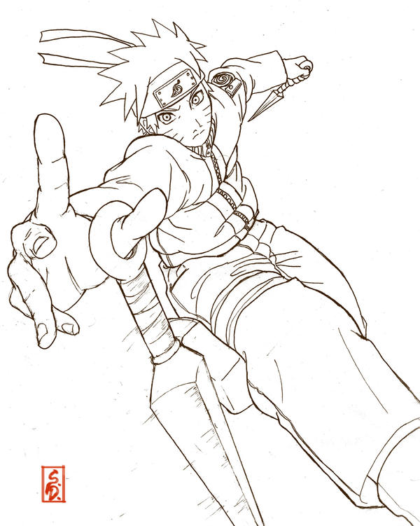 Line Art Action Photo : Naruto in action lineart by sharingandevil on deviantart