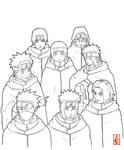 konoha double team lineart