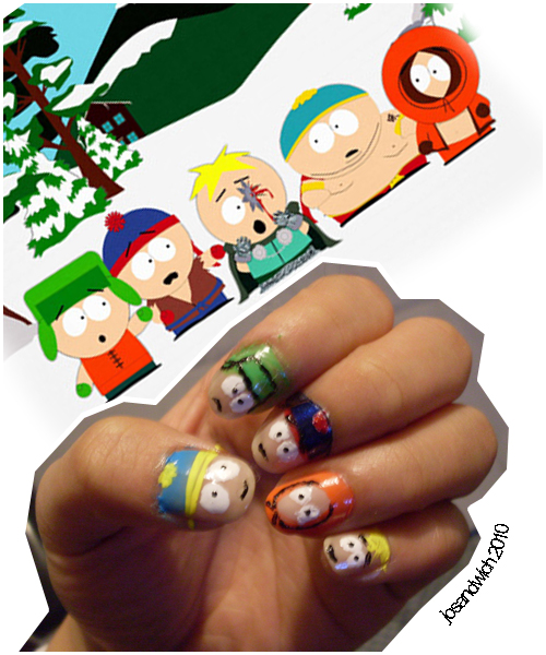 South Park Nails By Chelseapoops On DeviantArt