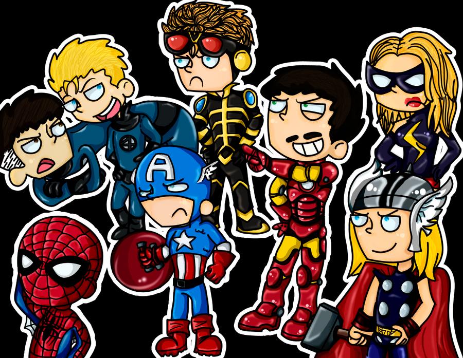 Chibi Avengers... Assemble by nupao