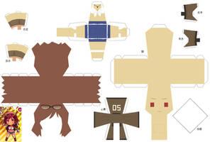 Hetalia Papercraft 2p! Fem America by SumatraDjVero