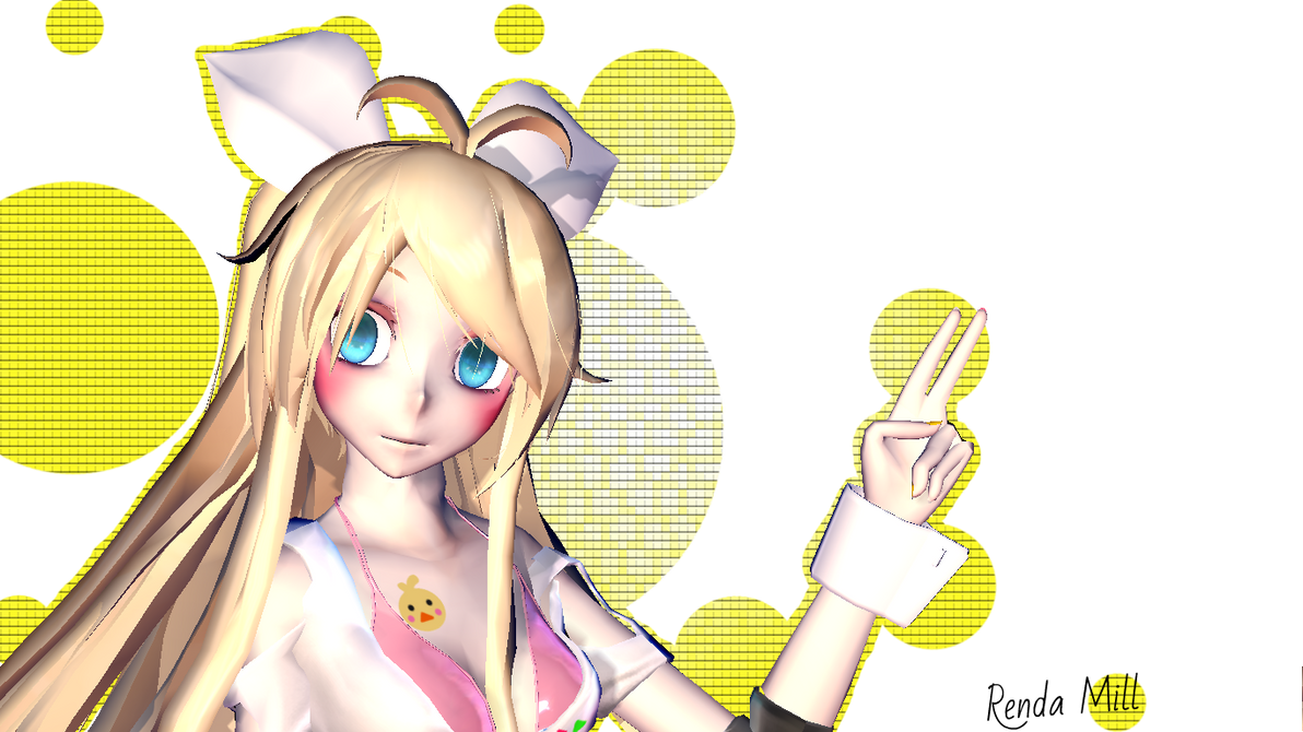 MMD FNAF Toy Chica By RendaMill On DeviantArt