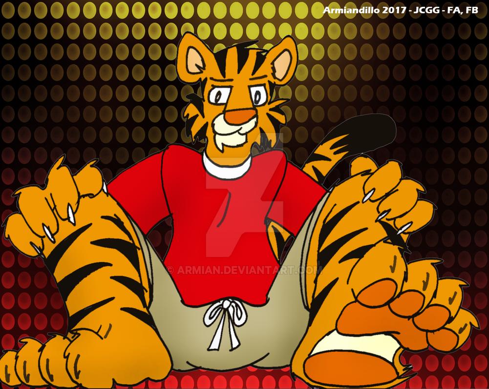 Tigre en pantalones cortos by Armian