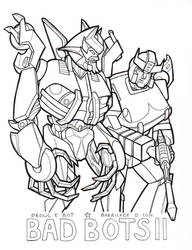 Bad Bots 2 lineart by crawdadEmily