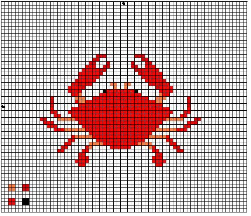 Crab Cross Stitch Pattern By Crawdademily On Deviantart
