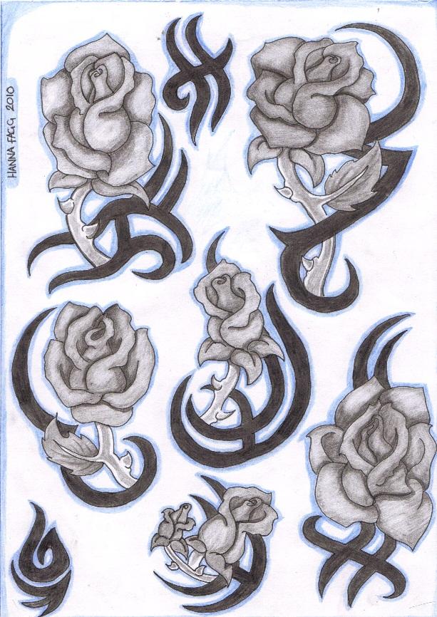 Tatouage Tribal Rose Beautiful Rose Tattoos Tribal With Tatouage