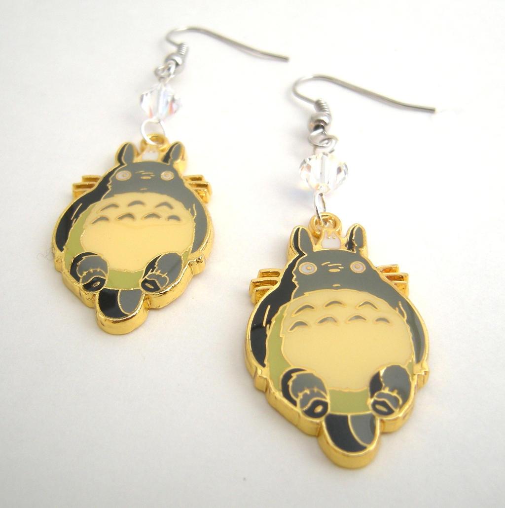 my totoro kawaii earrings by