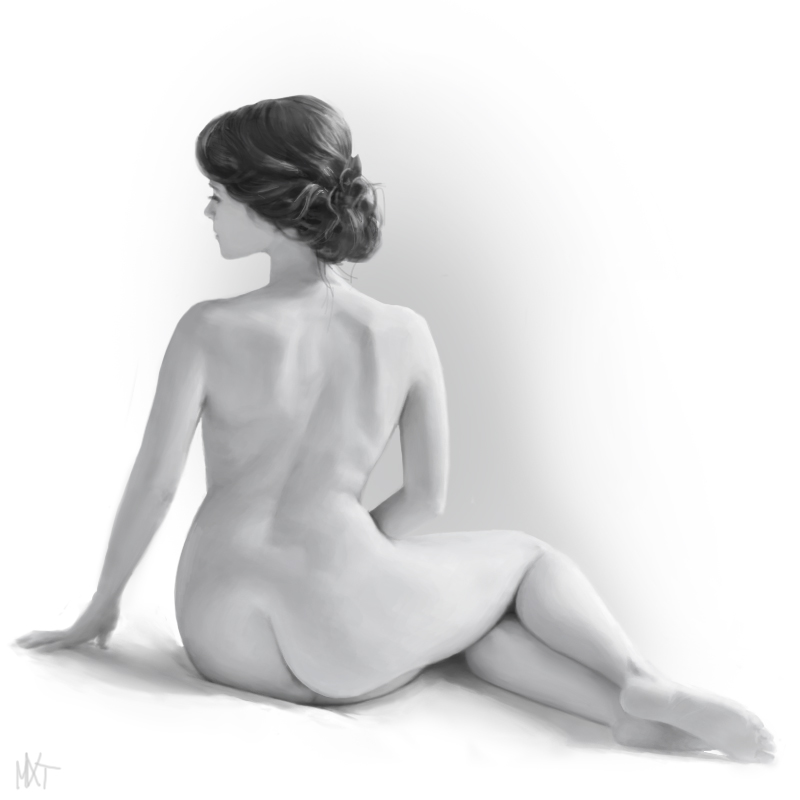 B+W Female Anatomy Study by mikextro