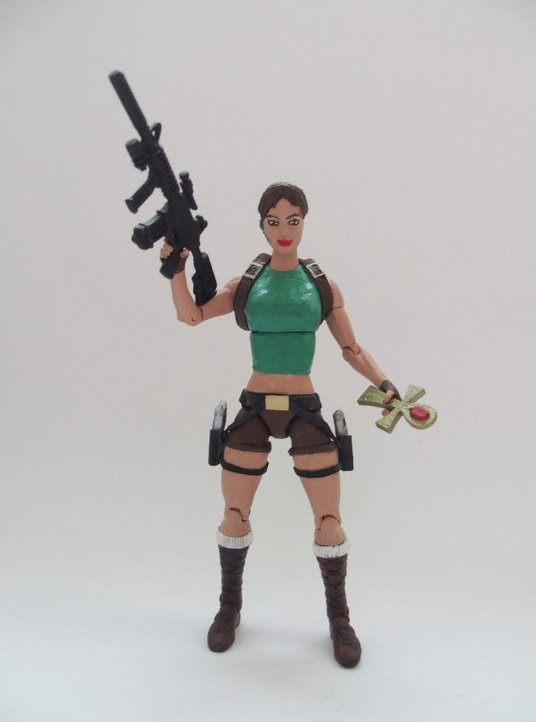 Lara Croft classic custom action figure by Jedd-the-Jedi