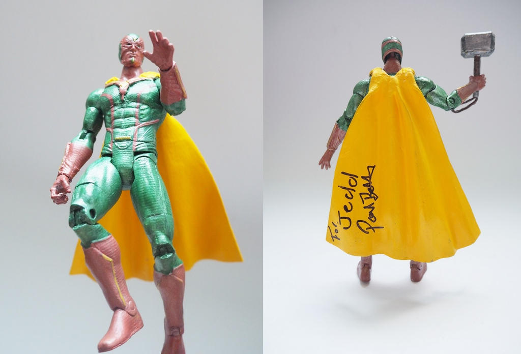 Vision Age of Ultron custom action figure by Jedd-the-Jedi
