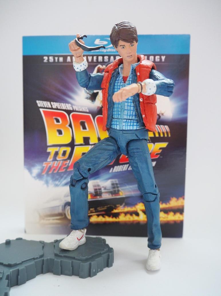 Marty McFly (1985) custom action figure by Jedd-the-Jedi