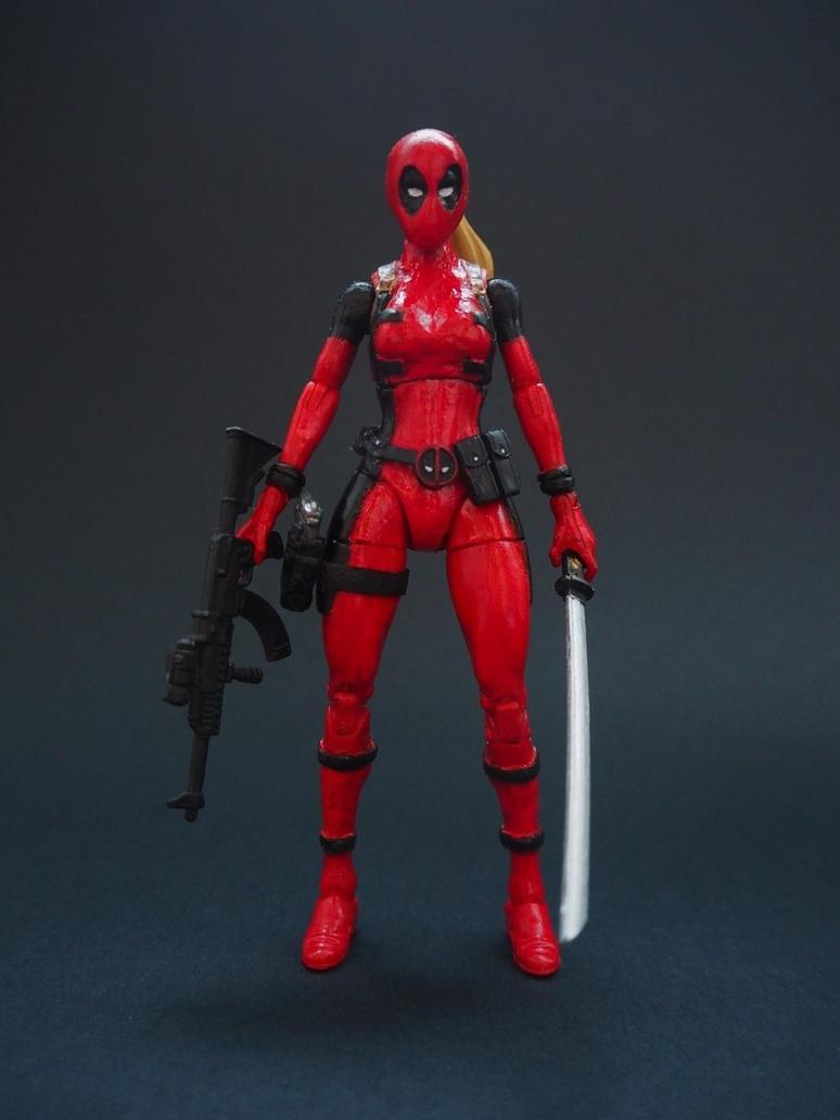 Lady Deadpool custom action figure by Jedd-the-Jedi