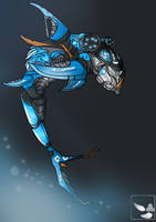 BIONICLE: Akida, Creature Of Water by gk733