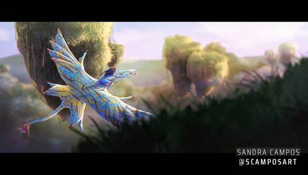 First flight on ikran | Avatar fanart