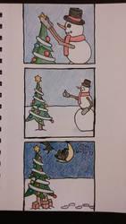 Snowman Comic by shinigami1717