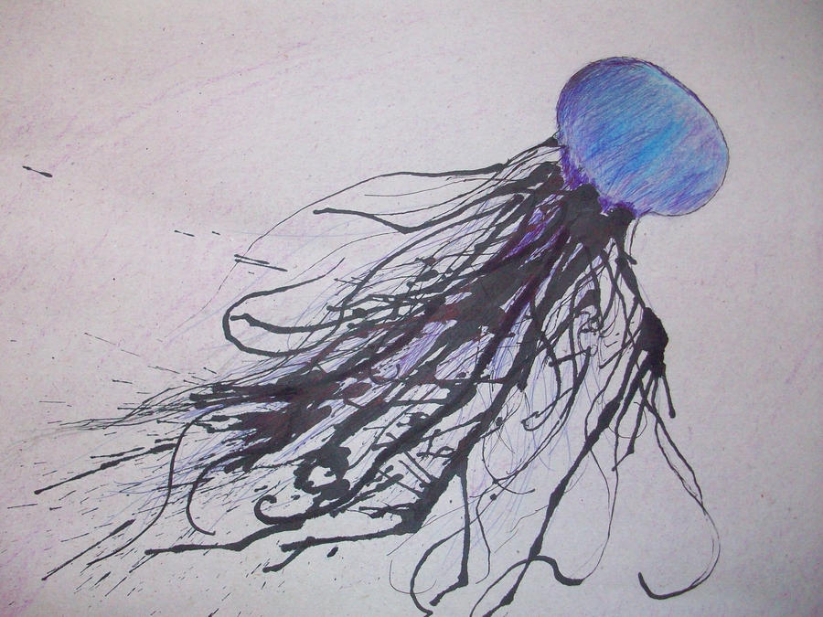 It's just a graphic of Universal Jellyfish Ink Drawing