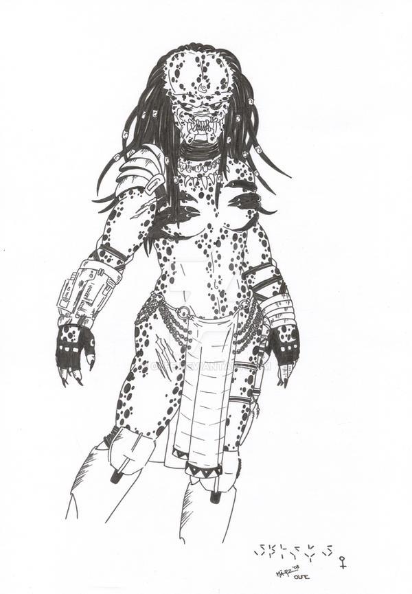 Female Yautja by Olfe