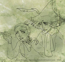 Moomins - Snoofkin - Little My by DraconisCrescendo