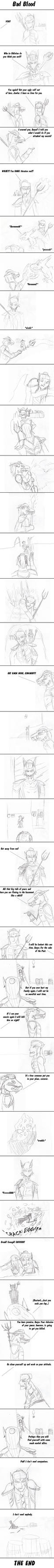 ( Sketch Comic) Bad Blood by gangyzgirl