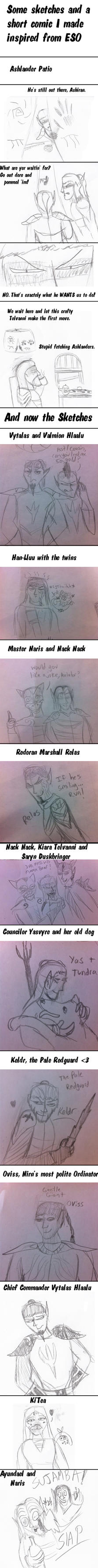 Elder Scrolls Online Sketch Dump by gangyzgirl