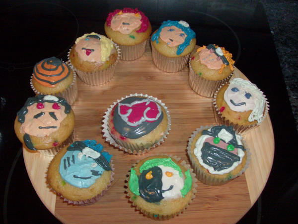 Org. Cupcakes - Akatsuki group by dracoXK
