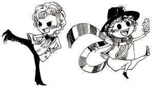 3rd and 4th Doctors' chibis