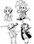 5th 6th 7th 8th Doc's chibis by orookayasu