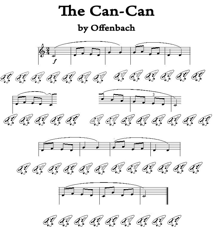 CanCan tab, 12 hole ocarina by LittleCatkin on DeviantArt