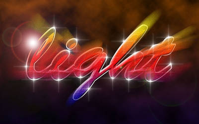 Light Text Effect - Photoshop CS6