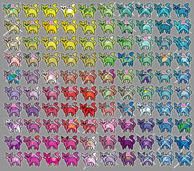 100 Cats (Free/1 pt) by princess-adoptables