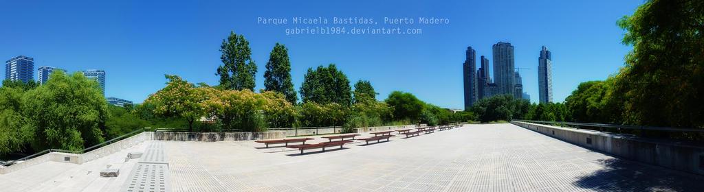 Parque Micaela Bastidas, Puerto Madero. by Gabrielb1984