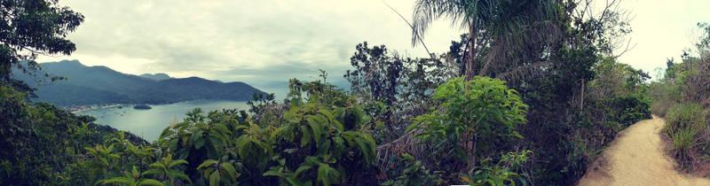 Panorama Vila do Abraao. Ilha Grande. RJ
