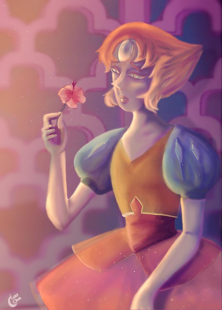 """Un fan art del capitulo: Una sola rosa palida, de la serie """"Steven universe"""" El personaje del dibujo es perla uno de mis personajes favoritos de la serie, espero que les guste tanto como ami me gus..."""