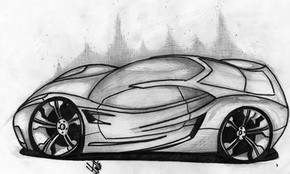 Corvette Concept Sketch by CrashDesign