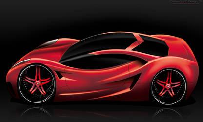 Corvette Concept Sketch Render by CrashDesign