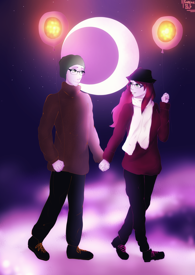 a walk of two souls by KatrineIcy