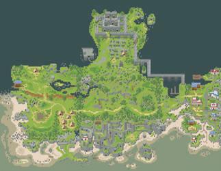 Guimluk peninsula - RPG Maker mapping by Junku87