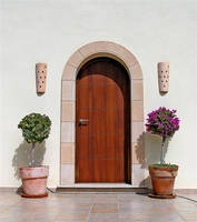brown door by awjay