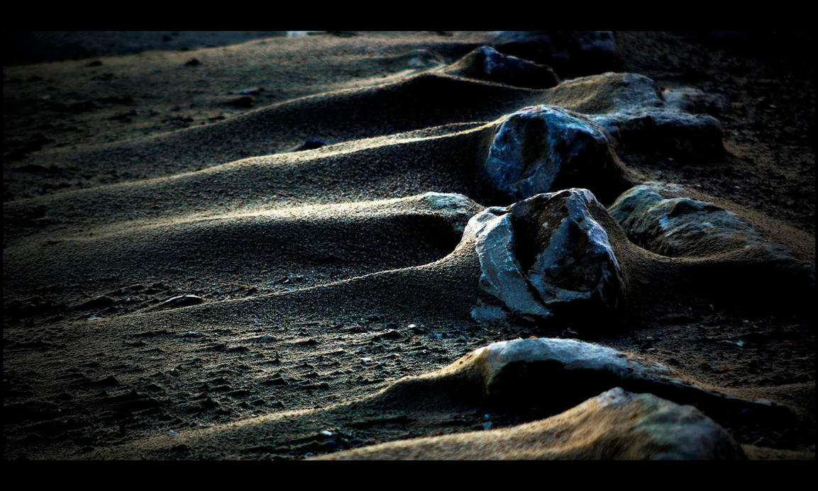 sand n rock by awjay