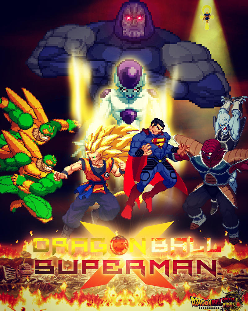 dragon ball x superman crossover team up by dbspritefight on deviantart