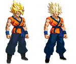 Extreme Butoden: SSj2 Goku Before and After